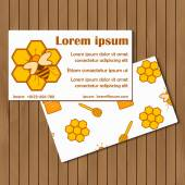 Template for booklet, card or flyer on beekeeping theme with hand drawn objects — Stock Vector