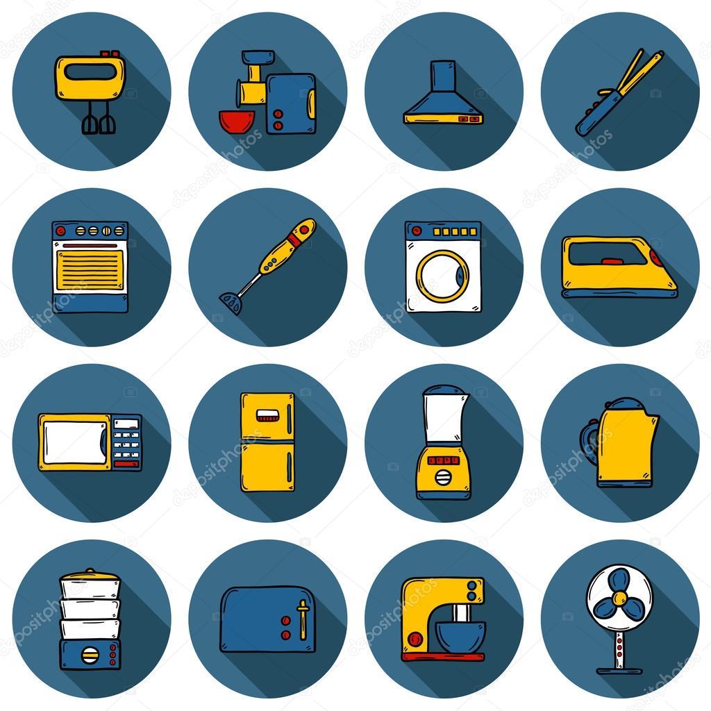 Conjunto de objetos estilo dibujado a mano dibujos - Lo ultimo en electrodomesticos ...