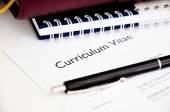 Curriculum vitae or resume concept — Stock Photo