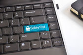 Internet security or safety first concept — Stock Photo