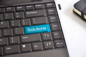 Find solutions keyboard button — Stock Photo