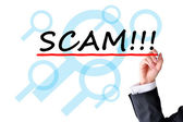 Scam or fraud concept — Stock Photo