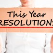 This year resolutions concept — Stockfoto #52483031