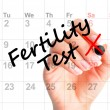 Fertility test date on agenda — Stock Photo #52483199