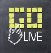 Go live concept — Stock Photo