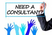 Need a consultant text question — Foto Stock