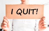 Quit my job decision — Stock Photo