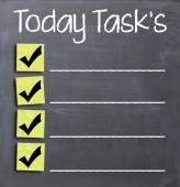 Today tasks concept — Stock Photo