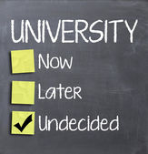 University now or later — Stock Photo
