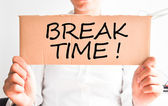 Time for break at the office — Stock Photo