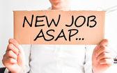 Need a new job asap — Foto de Stock