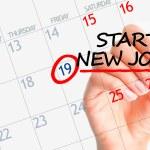 Start new job date in calendar — Stock Photo #52695439