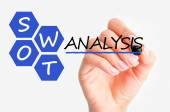 Swot analysis business concept — Stock Photo