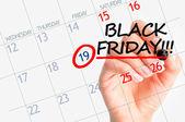 Black Friday sales on calendar — Stock Photo