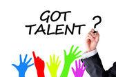 Got talent concept — Stock Photo