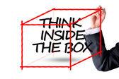 Pensez à l'intérieur de la notion de business case — Photo