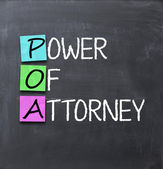 Power of attorney text — Stock Photo