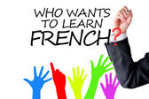 Learning French language concept — Stock Photo