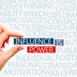 Influence is power concept — Stock Photo #53297971