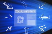 Your Web Site — Stock Photo
