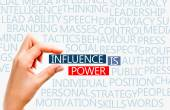 Influence is power concept — Стоковое фото