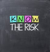 Know the risk concept — Stock Photo