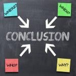 Conclusion text concept — Stock Photo #53301633