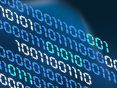 Binary code concept — Stock Photo