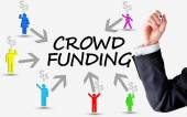 Crowd funding platform concept — Stock Photo