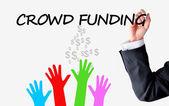 Crowd funding platform concept — Stock Photo