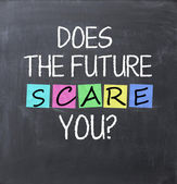 Does the future scare you question — Stock Photo