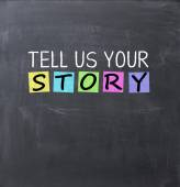 Tell us your story question — Stock Photo