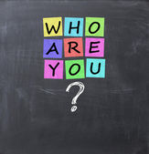 Who are you question — Stock Photo