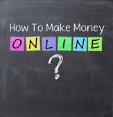 How to make money online concept — Stockfoto