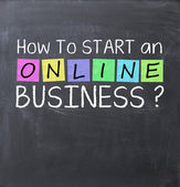 How to start an online business — Stockfoto