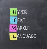 Hyper text markup language — Stock Photo