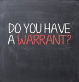 Warrant authorization — Stock Photo