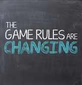 Game rules are changing — Stock Photo