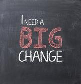 I need a big change — Stock Photo