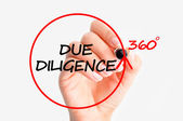 Due diligence concept — Stock Photo
