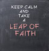 Leap of faith — Stock Photo