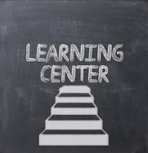 Learning center concept — Stock Photo