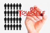 Be yourself concept — Stock Photo