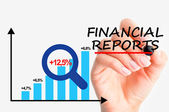 Financial controlling reports — Stock Photo