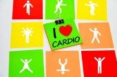 I love cardiac exercises — Stock Photo