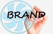 Concept brand croccante — Foto Stock