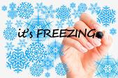 Freezing temperature — Stock Photo