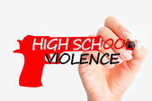 High school violence — Stock Photo