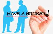 Have a good broker concept — Stock Photo