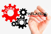 Adjust inflation concept — Stock Photo